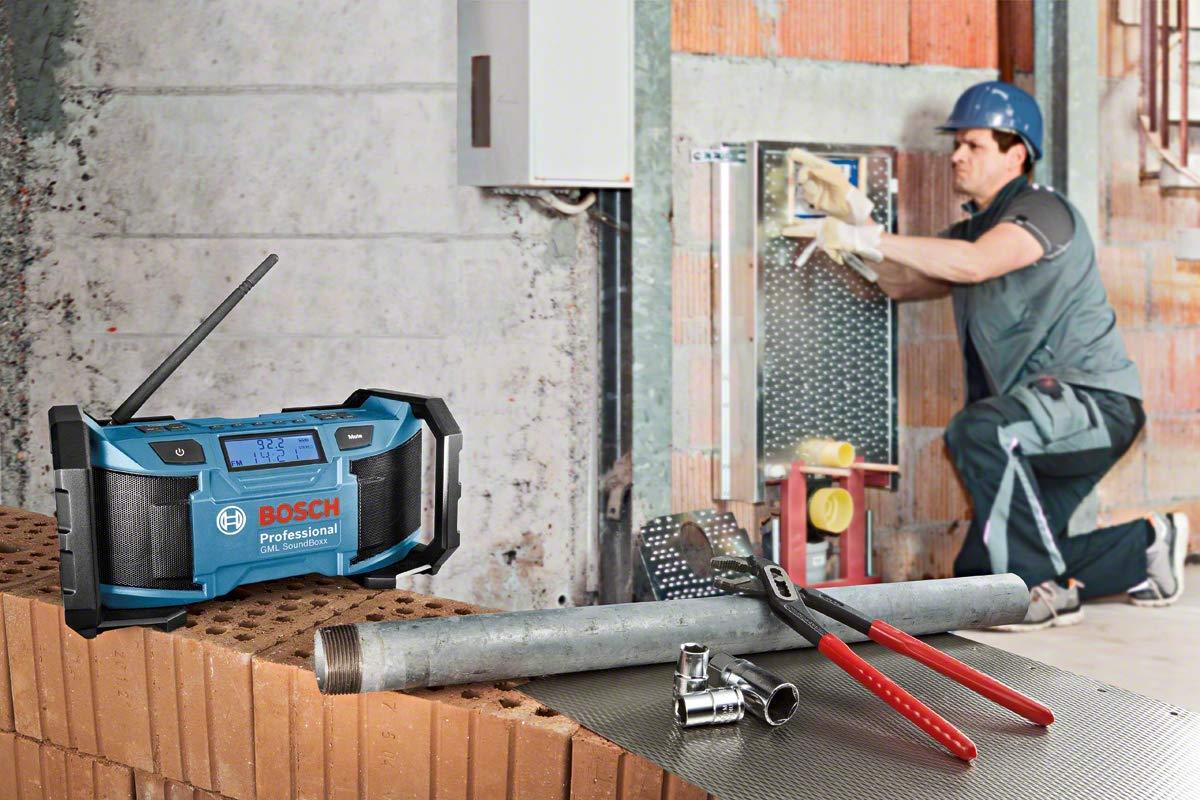 Negro 12 W Bosch Professional 0601429900 Radio 12 V Azul