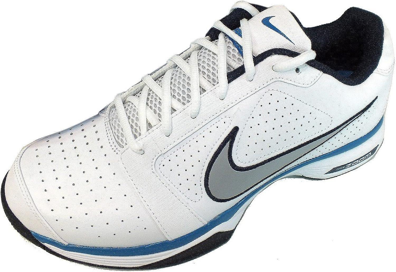 tonto Inocencia Establecer  Nike - Zapatillas de Tenis de Cuero para Hombre Blanco Blanco 47:  Amazon.es: Zapatos y complementos