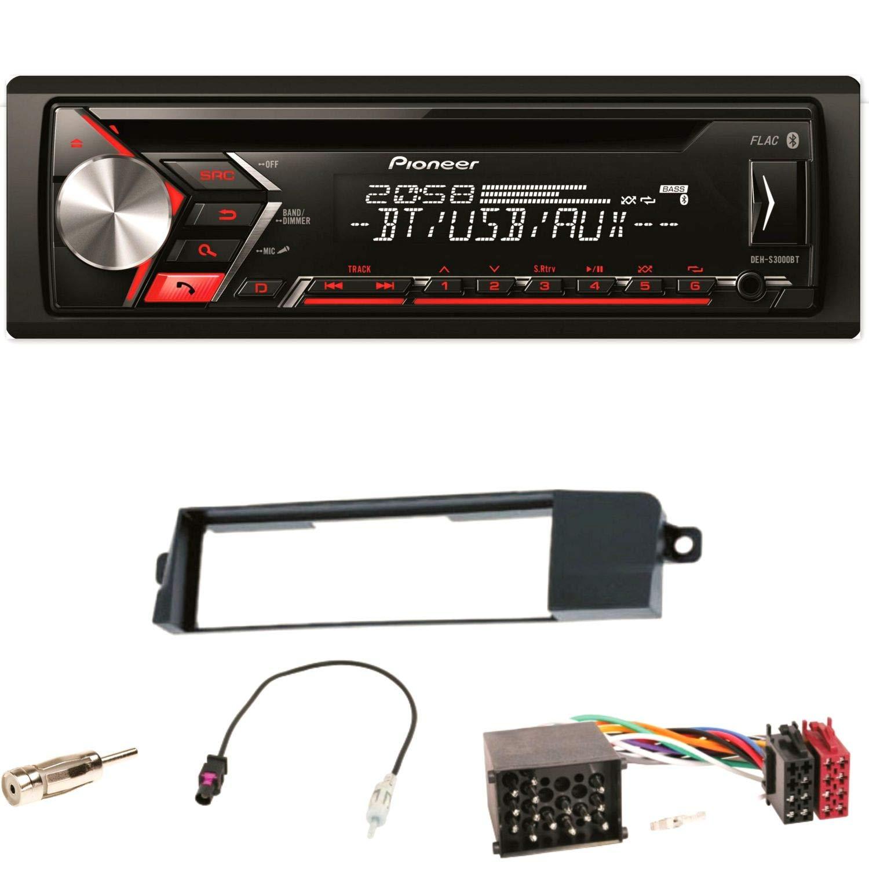 Pioneer DEH-S3000BT Autoradio USB AUX 1-DIN CD iPod MP3 Bluetooth WMA Einbauset fü r BMW 3er E46 ACR-Bad Hersfeld 97552