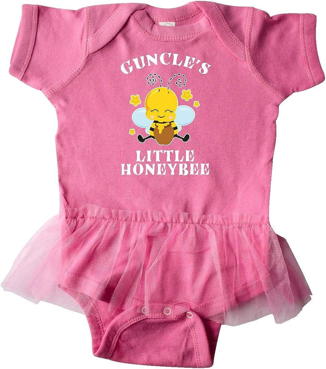 inktastic Cute Bee Guncles Little Honeybee with Stars Infant Tutu Bodysuit