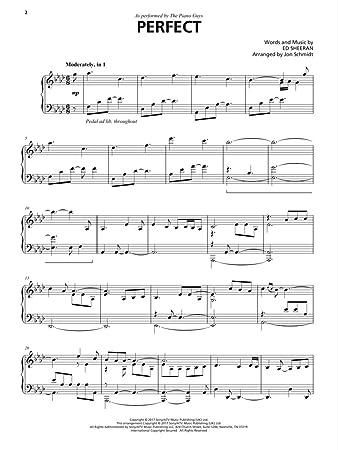 The Piano Guys - Perfect - PIANO SOLO Sheet Music Single (Ed Sheeran Song)