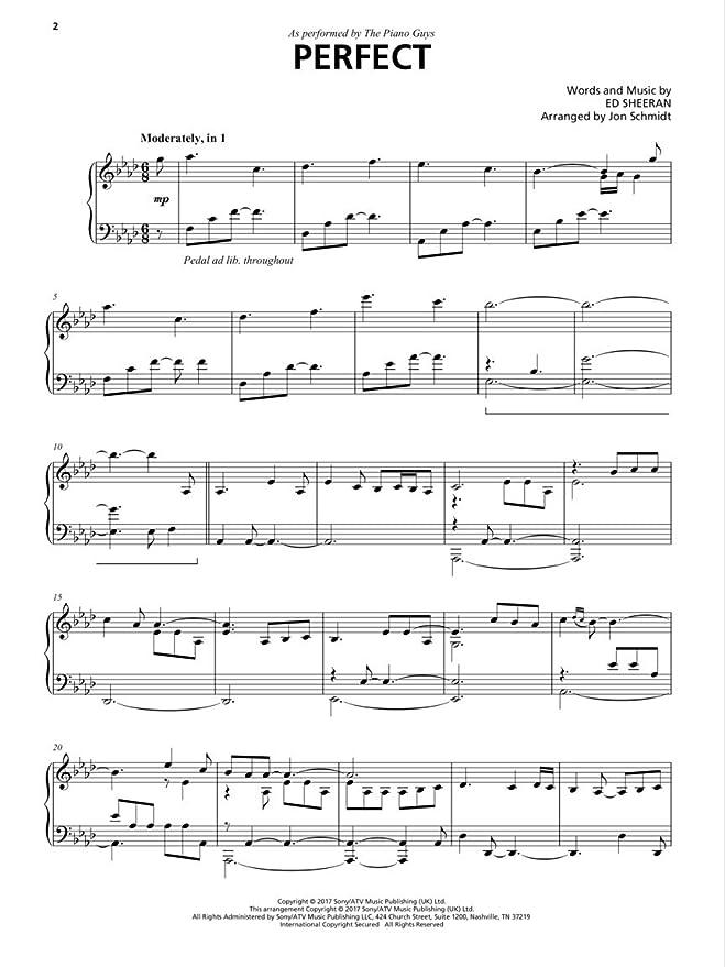 The Piano Guys - Perfect - PIANO SOLO Sheet Music: Amazon in