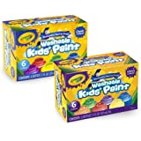 Crayola Washable Kids' Paint, Includes Glitter Paint, 12 Count (Amazon Exclusive)