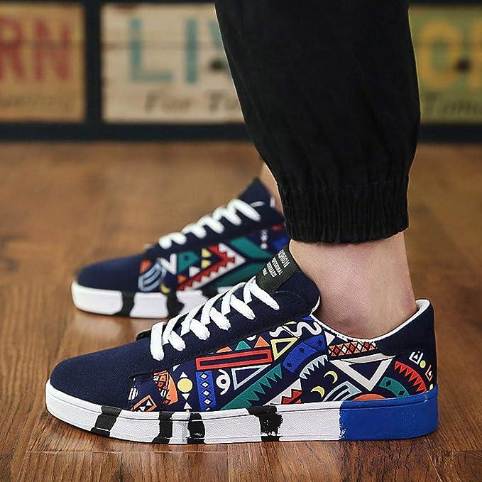Bestow Zapatillas Deportivas de Lona Zapatillas de Deporte Zapatillas de Graffiti Zapatillas de Lona para Hombre Casual Shoes: Amazon.es: Ropa y accesorios