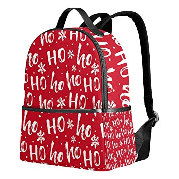 337a3e6e3201 Merry Christmas Backpack for Women Teen Girls Purse Fashion Bag Bookbag  Children Travel College Casual Daypack