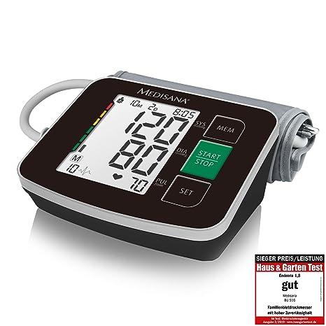 Medisana BU 516 Tensiómetro para el brazo, pantalla de arritmia, escala de colores de los semáforos de la OMS, para una medición precisa de la tensión ...