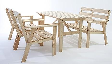 Swell 4Pcs Fsc Solid Pine Wood Garden Furniture Set Hanko Pdpeps Interior Chair Design Pdpepsorg