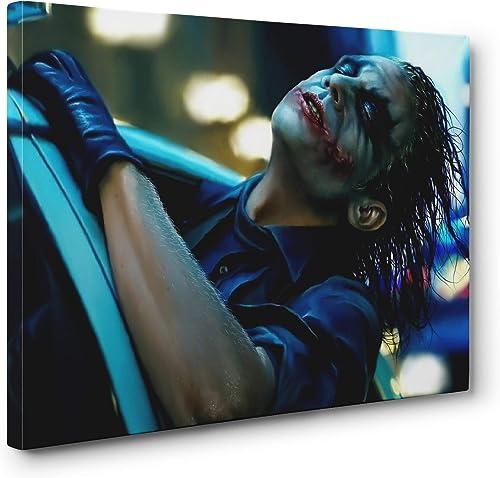 S-ANT Batman Dark Knight The Joker's Joy Ride Gallery Canvas Wall Art Ready to Hang 24x36in. - a good cheap canvas wall art