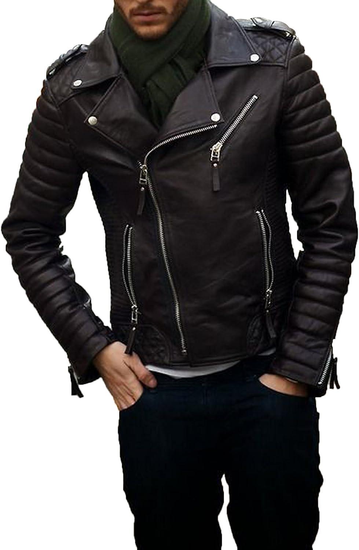 Mens Leather Jacket Stylish Genuine Lambskin MJ27