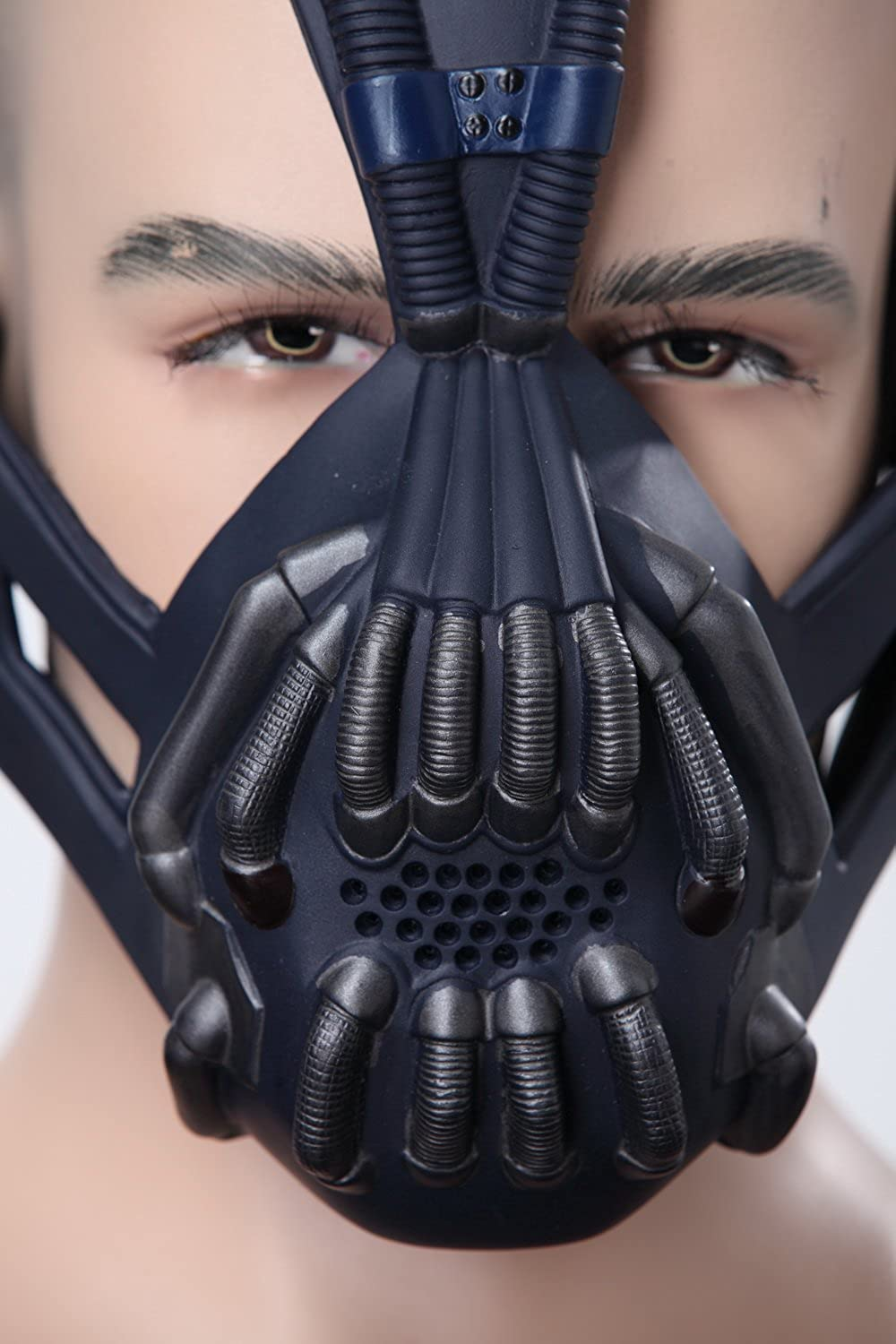 Xcoser Halloween Maschera Bane Cosplay Lattice Film Replica Accessorio Costume Carnevale Halloween Pasqua Fancy Dress Taglia Unica Opera Movie per Unisex Adulti