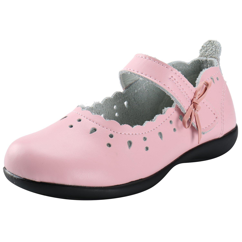 Alexis Leroy Girls Leather Mary Jane Bow School Uniform Dress Flat Shoes