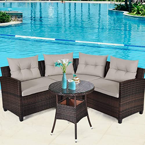 Tangkula 4-Piece Patio Furniture Set
