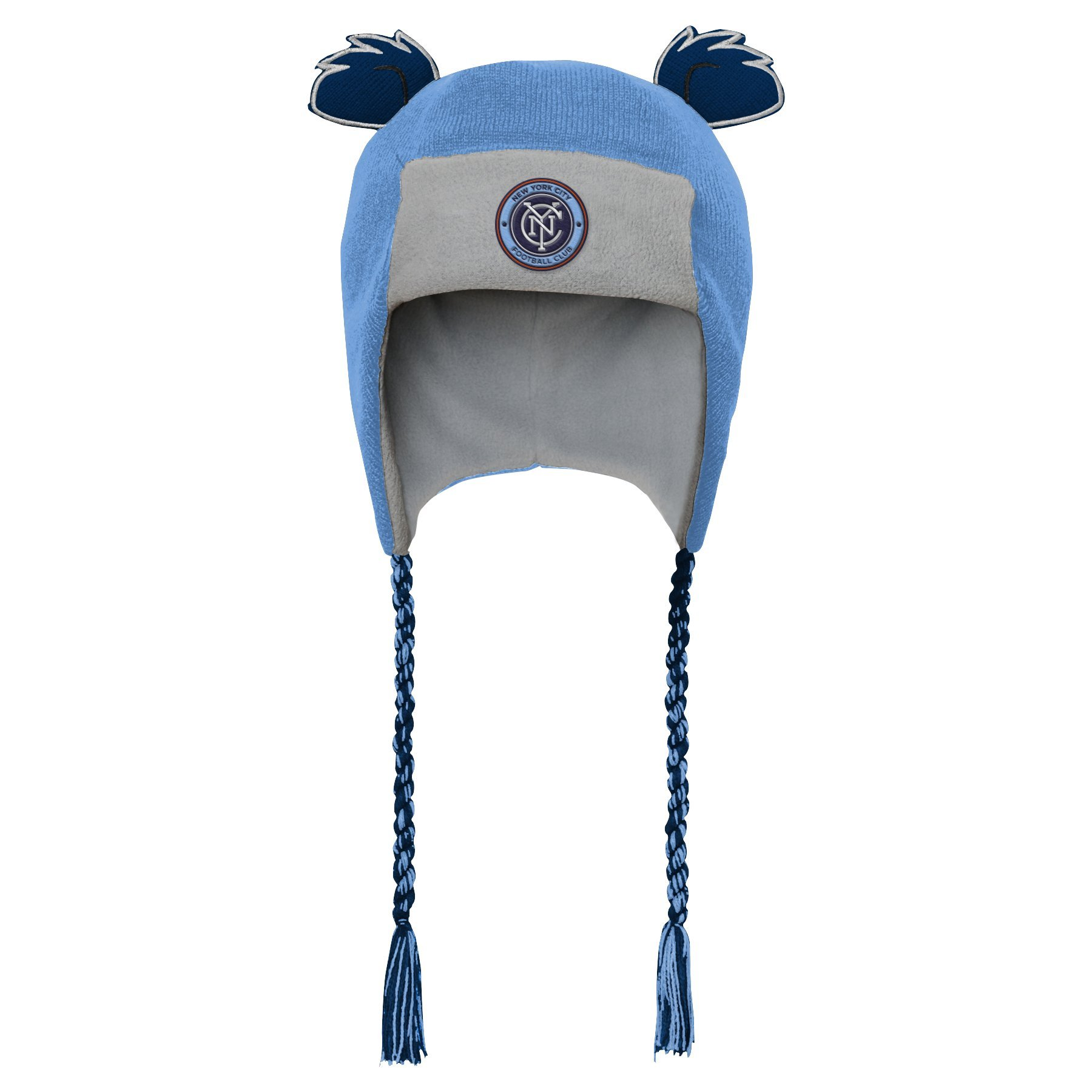 Outerstuff MLS NYCFC R S47DL Boys Ears Trooped Hat, One Size, Bahia Blue