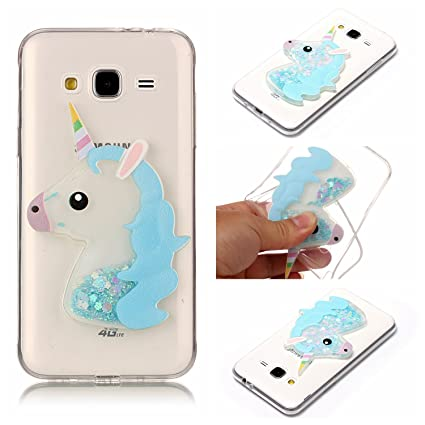 Amazon.com : Galaxy J5 Case, Ranyi [Liquid Glitter Unicorn ...