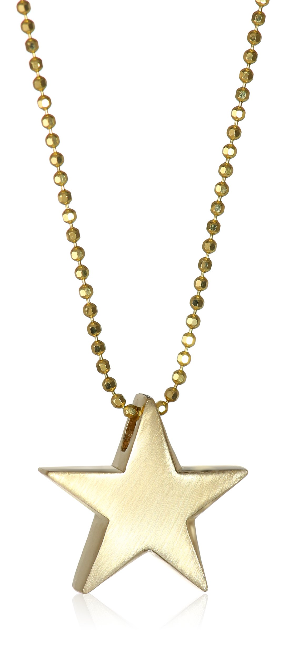 Alex Woo ''Little Princess'' 14k Yellow Gold Star Pendant Necklace, 16'' by Alex Woo