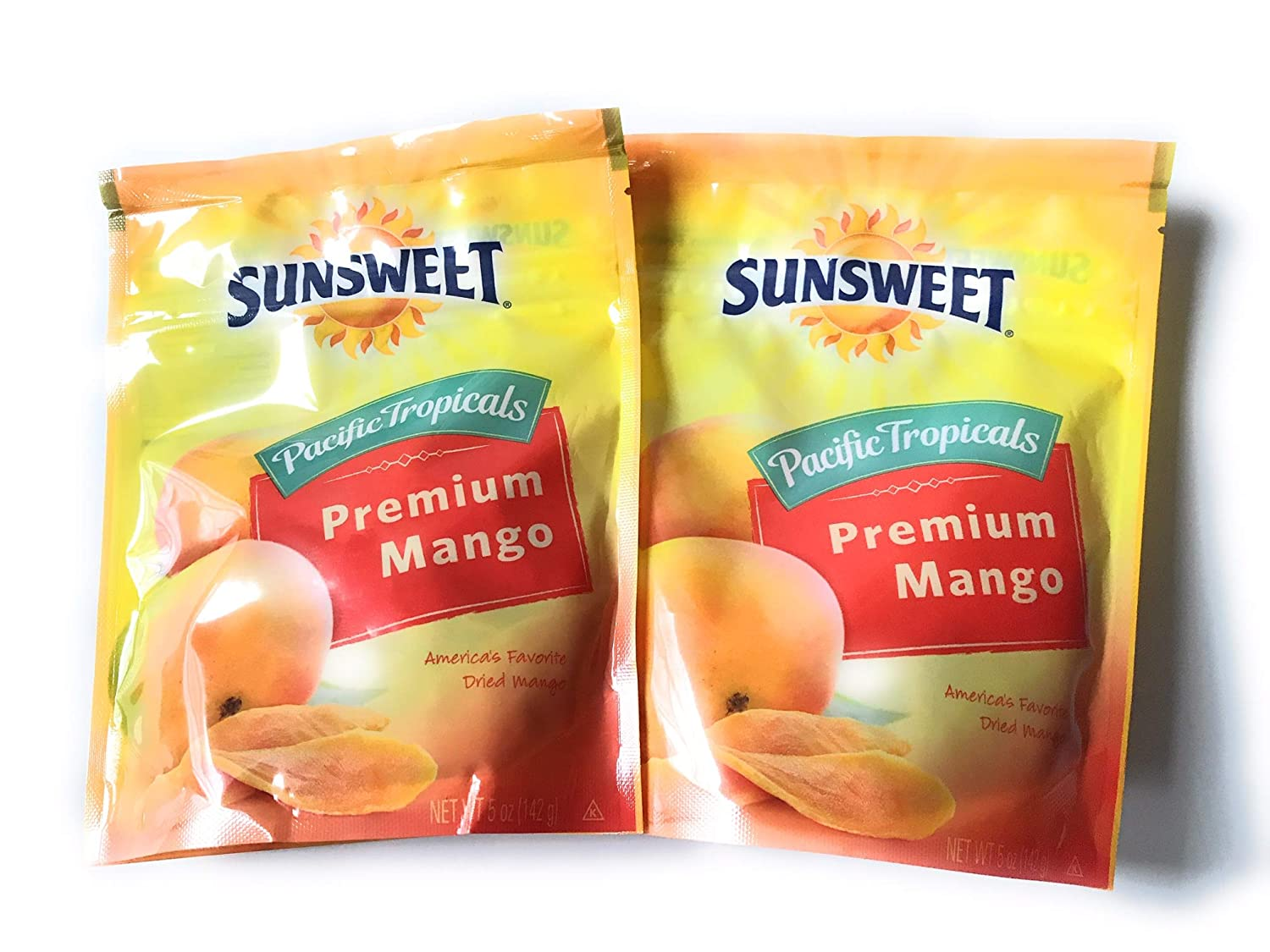 Sunsweet Dried Mangoes - Two 5 Ounce Packages of Dry Mangos