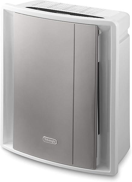 DeLonghi AC230 - Purificador de aire, 80 W, 255 m³/h, 50 dB, 3 velocidades, gris/blanco: Amazon.es: Informática