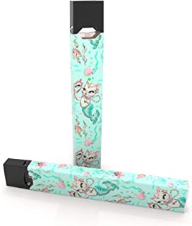 product image for 2 Pack - Merkittens with Pearls Aqua Decal Sticker Vinyl Skin for Juul Vape