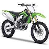 Maisto Kawasaki KX 450F Motorcycle 1:12 Scale Toy For Kids (Green And White)