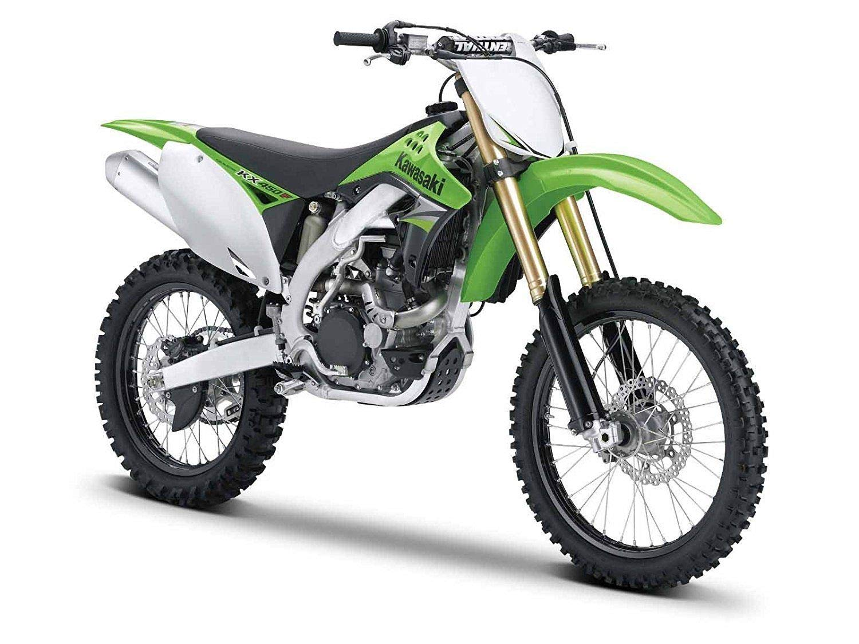 Maisto 1 12 Kawasaki KX 450F Assembly Line Model Kit Green