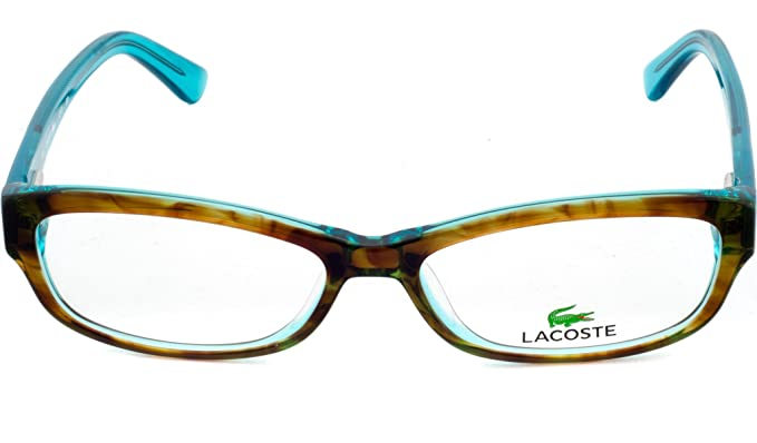 1516dc1aeaeb LACOSTE Eyeglasses L2673 220 Green Havana 52MM  Amazon.co.uk  Clothing