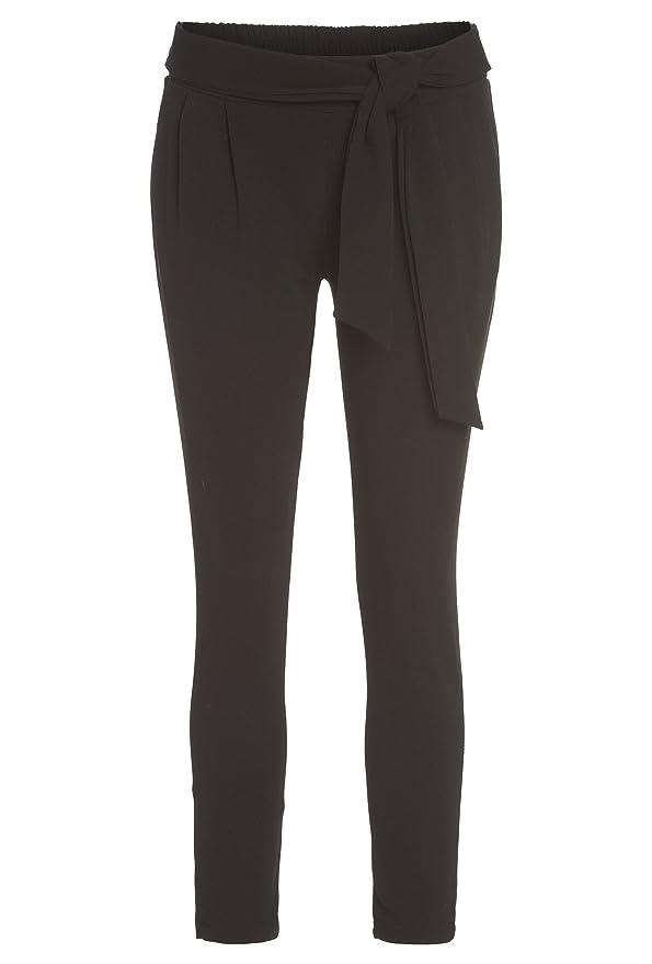 Hailys Damen Anzughose Stoffhose 7//8-Hose Sommerhose Paperbag Hose Comfort Fit