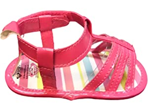 Roxy Girls Strappy Sandals (0-6 Months, Polka Dot)