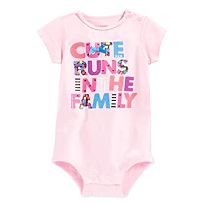 80096d3f5 First Impressions by Macy's Baby Girls' Short-Sleeve Cute Runs In The  Family Bodysuit