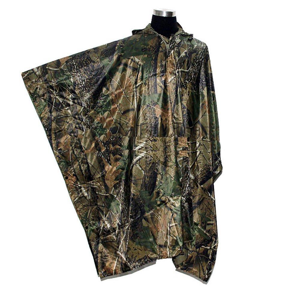 Rain Poncho, LOOGU Waterproof Camouflage Rain Coat Outdoor Camo Shelter Ground Sheet by Rain Poncho (Image #2)
