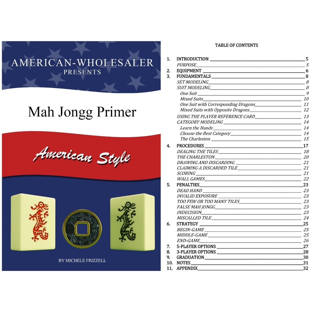 American Mah Jongg Set - 166 Premium Ivory Tiles, 4 All-In-One Rack/Pushers, Black Canvas Bag by American-Wholesaler Inc. (Image #6)