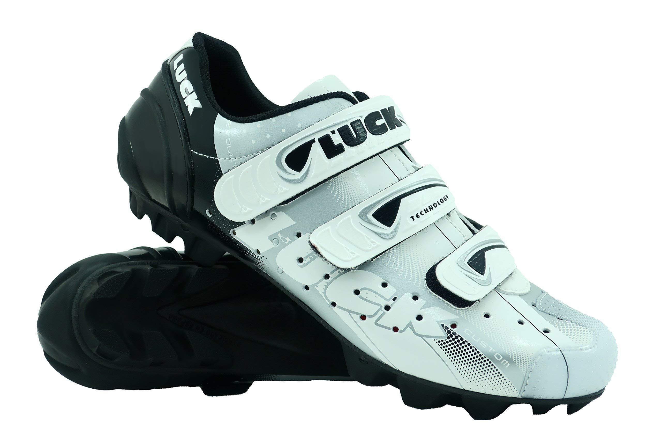 LUCK Zapatilla de Ciclismo Extreme MTB, con Suela de Carbono y Triple Tira de Velcro
