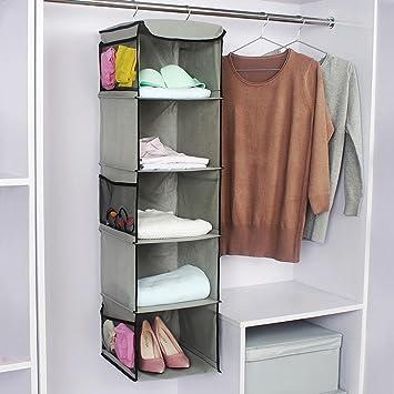 Genial Home Hanging Clothes Storage Box 5 Shelving Units Hanging Closet Organizer Closet  Cubby Sweater U0026