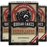 Kodiak Cakes Protein Pancake Power Cakes, Flapjack and Waffle Baking Mix, 20 Buttermilk 60 Ounce (Pack of 3)