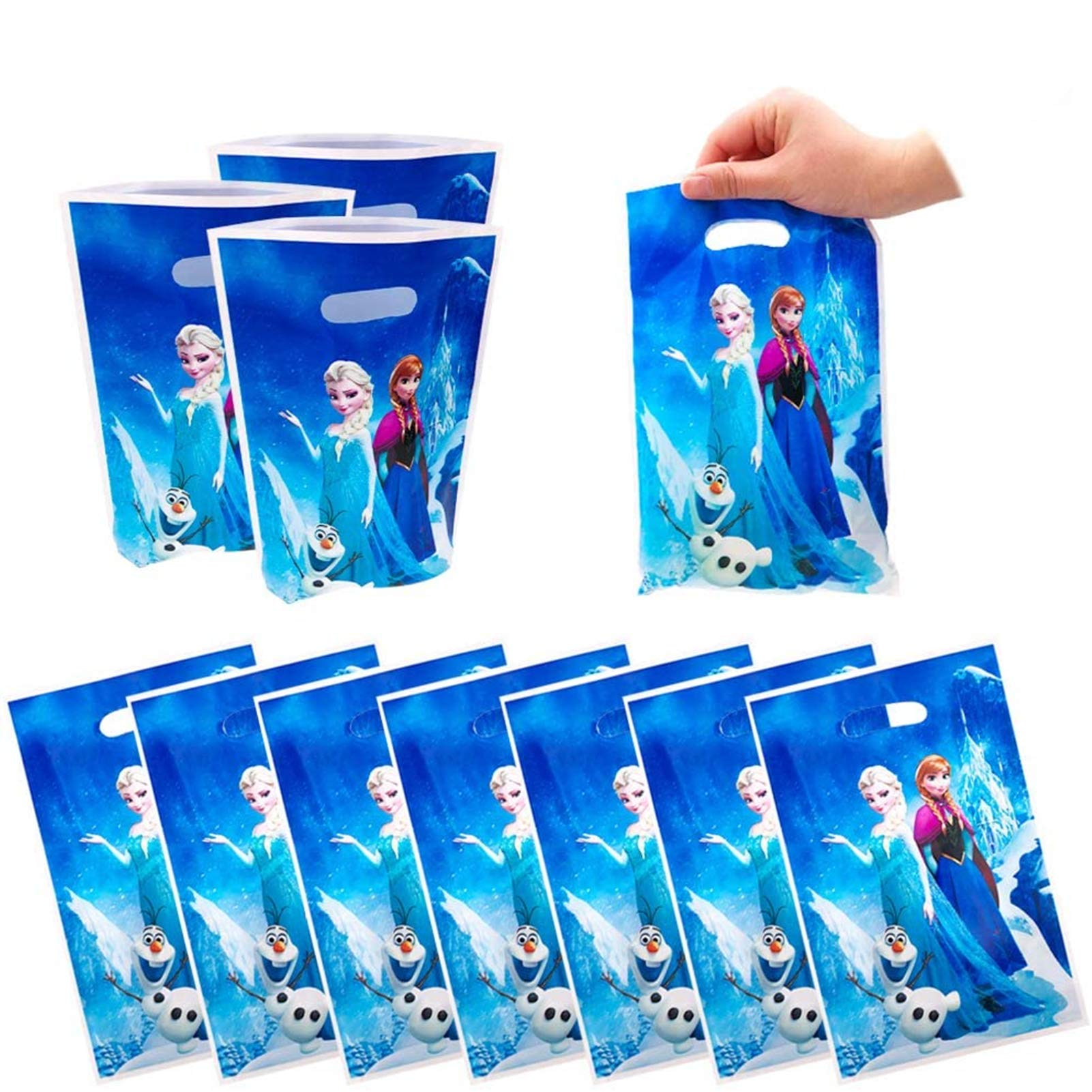 50 Packs Frozen Princess Cute Party Gift Bags, Frozen Gift Bags Party Supplies for Kids Cute Frozen Princess Themed Party, Birthday Decoration Gift Bags Well for Girls or Boys