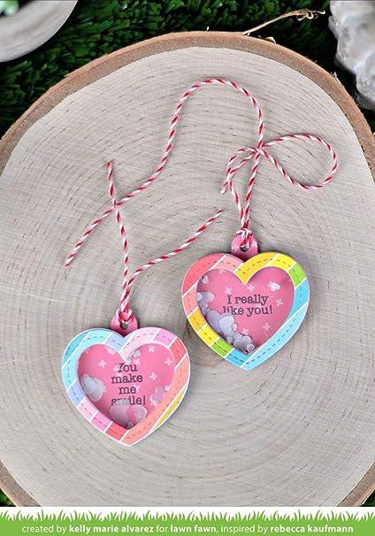 Lawn Fawn Heart Shaker Gift Tag에 대한 이미지 검색결과