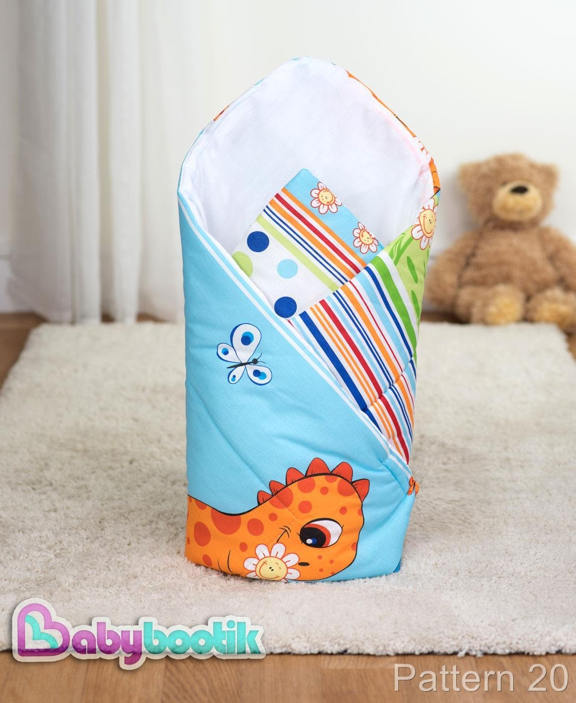 Newborn Baby Soft Cotton Swaddle Wrap Blanket Sleeping Bag - Pattern 20 Baby Comfort