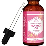 Moringa Oil by Leven Rose, Pure, Organic, Cold Pressed, All Natural for Face, Skin, & Hair 1 oz