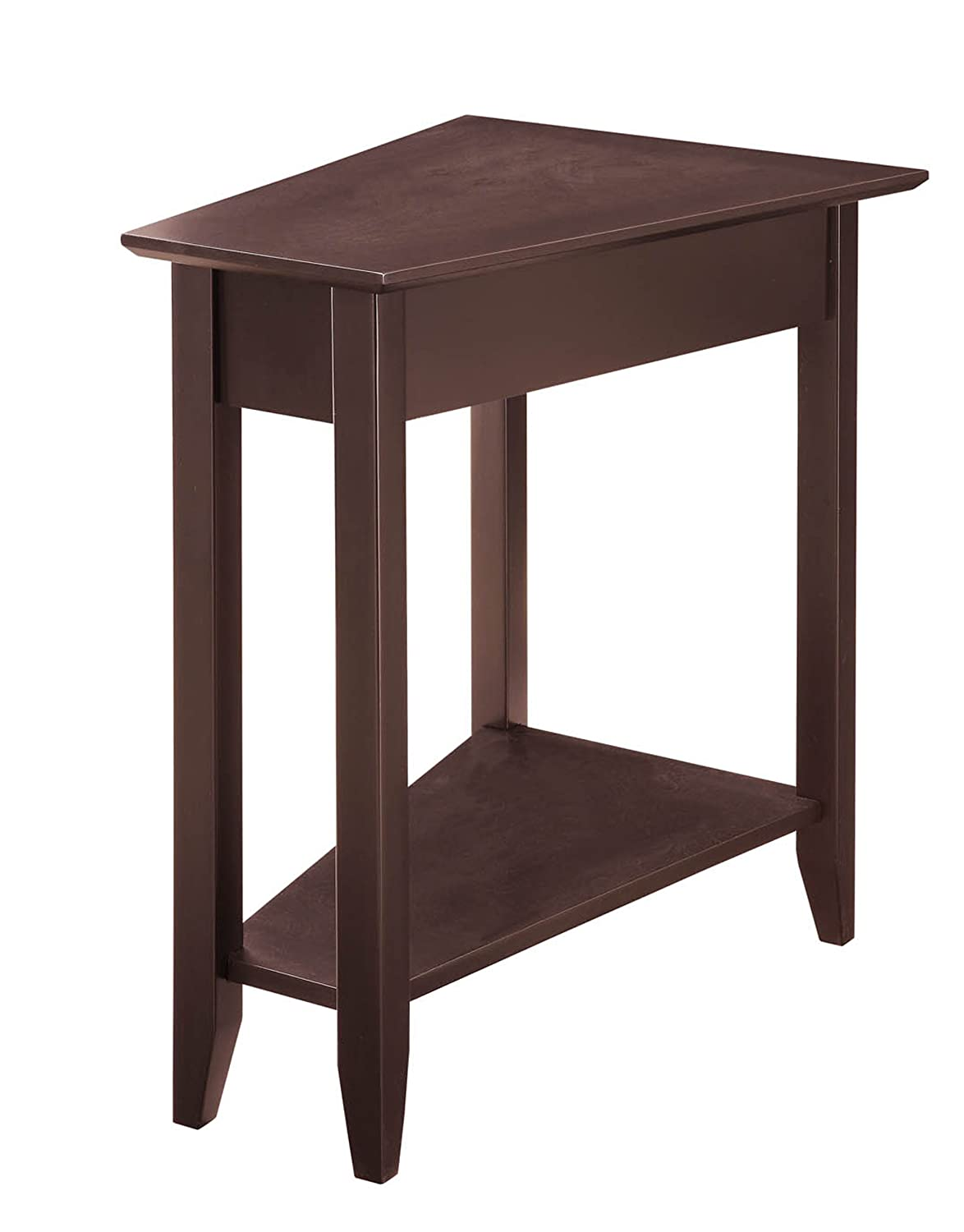 Amazon.com: Convenience Concepts American Heritage Modern Wedge End Table,  Espresso: Kitchen U0026 Dining