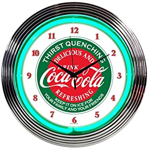 Neonetics Drinks Coca Cola Evergreen Neon Wall Clock, 15""