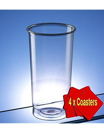 Plástico vaso Highball/Slim Jim/vaso 340 ml (12 oz) claro.