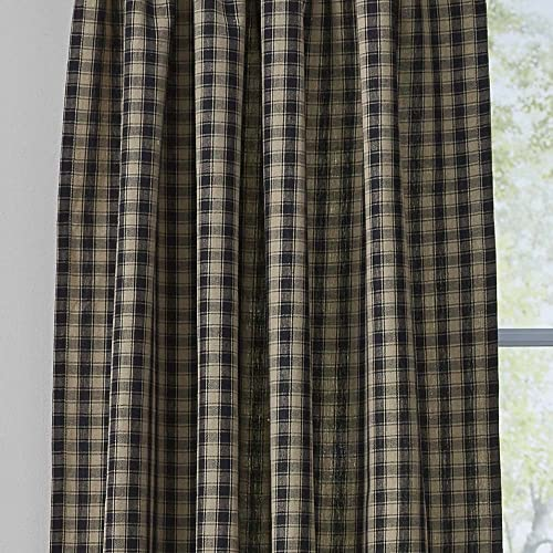 Town and Country Black Curtain Panels