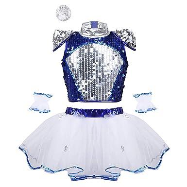 dPois Vestido Lentejuelas Disfraz Bailarina de Ballet Danza ...
