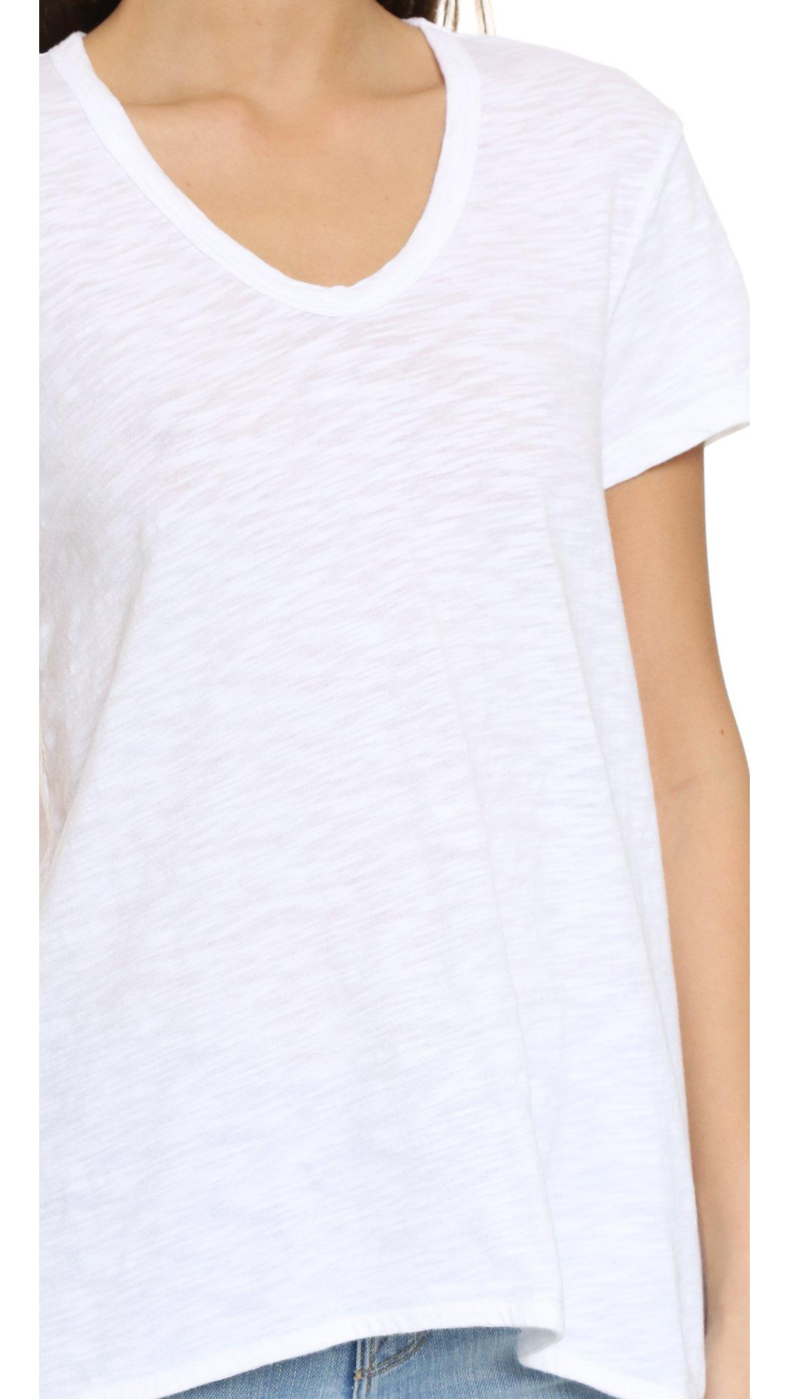 Wilt Women's s/s shrunken bf foundation Shirt, -white, Large
