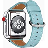 Compatible with iWatch Band 38mm 40mm, Top Grain Leather Band Replacement Strap for iWatch Series 6/5/ 4/ 3/ 2/ 1,SE…