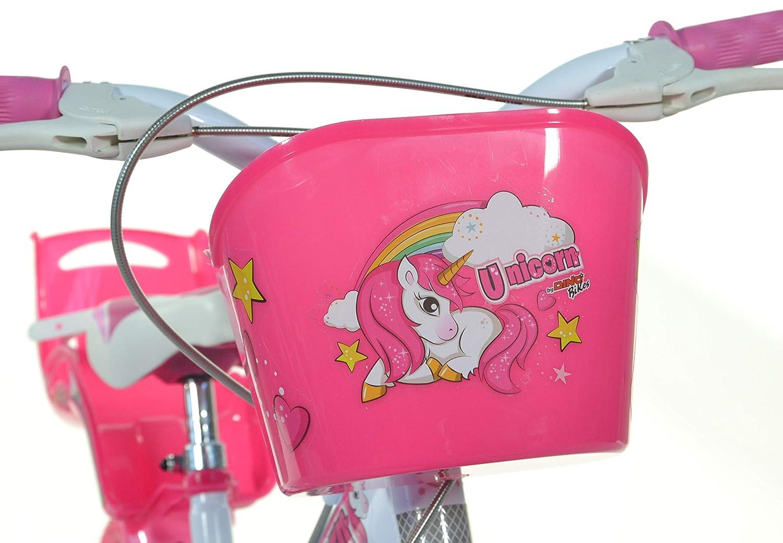 Blanco Ni/ñas Dino Bikes 164R-UN bicicletta Ciudad 40,6 cm 16 Blanco Rosa Acero Rosa Bicicleta 16 Vertical, Ciudad, 40,6 cm 16 Acero 40,6 cm
