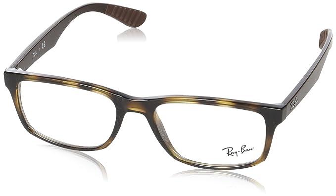 Ray-Ban Mens RX7063 Eyeglasses Shiny Havana 54mm