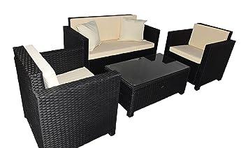 Gartenmoebel Cannes Rattan Lounge Möbel Black Polyrattan Gartenausstattung  Von Jet Line