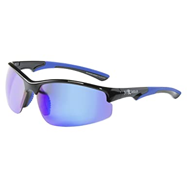 e408c035a5e Amazon.com: Piranha Avalanche-Shiny Frame with Dark Blue Rubber and Revo  Lens, Black: Clothing