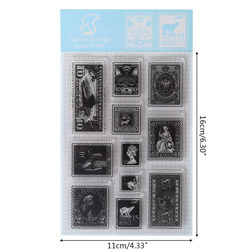 Ranuw Timbre Clair,Caract/ère Timbre Silicone Clear Stamp Cling Seal DIY Journal Scrapbooking Gaufrage Album D/écor Artisanat Cadeau