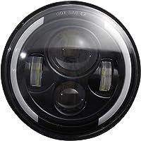 Faróis de LED redondos de 17,78 cm 200W Halo Farol Angel Eye Anel de feixe alto e baixo para Jeep Wrangler Unlimited JK…
